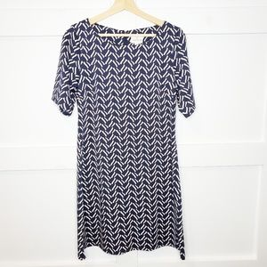 Julie Brown NYC A-line Dress Blue Midi Medium